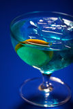 Studio shot of curacao drink Royalty Free Stock Photography