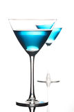 Studio shot of drink in martini glass Stock Photo