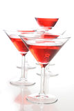 Studio shot of drink in martini glass Stock Images