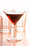 Studio shot of drink in martini glass Stock Image