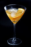 Studio shot of drink in martini glass Royalty Free Stock Image