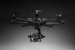 Studio shot of drone with digital camera stock photo