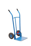A studio shot of an empty hand truck. Isolated on white background Stock Image