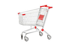 A studio shot of an empty shopping cart Royalty Free Stock Images
