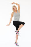 Studio Shot Of Exercising Woman Stock Image