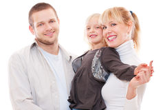Studio shot of father mother and son Stock Photography