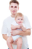 Studio shot of father and son Stock Photography