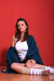Studio shot of female Stock Image