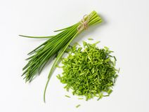 Studio shot of fresh chives Royalty Free Stock Images