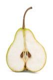 Studio shot of fresh green cut natural pear Stock Photos