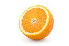 Studio shot of fresh natural orange. Isolated on white Stock Images