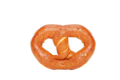 Studio shot of a freshly baked pretzel Stock Images