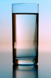 Studio shot of glass of water Stock Images