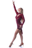 Studio shot of graceful blonde dancing Royalty Free Stock Photo