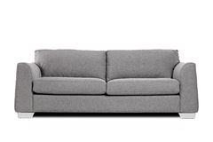 Studio shot of a grey modern sofa Stock Image