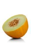 Studio shot of halved melon on white background Royalty Free Stock Photos