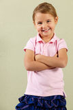Studio Shot Of Happy Young Girl Stock Photography