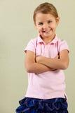 Studio Shot Of Happy Young Girl Stock Photography