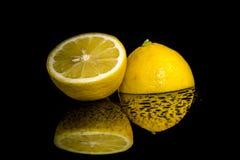 Studio shot with lemons Royalty Free Stock Photography
