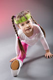 Little Fitness Girl Stock Image