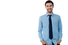 Studio shot of male business executive Stock Photography