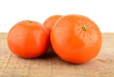 Studio shot mandarines,tangerines  on wooden table Royalty Free Stock Image