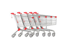 A studio shot many shopping carts Stock Photography