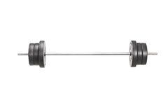Studio shot of a metal barbell Royalty Free Stock Photos