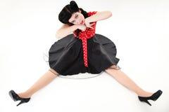 Studio shot of model stylized like marionette Stock Image