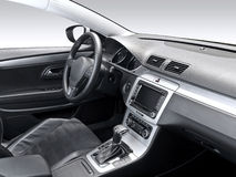 A studio shot of a modern car interior Stock Photos