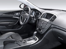 A studio shot of a modern car interior stock images