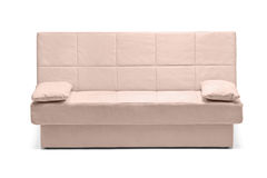 A studio shot of a modern white sofa Stock Photo