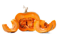 Studio shot of a nice pumpkin isolated on white Royalty Free Stock Photos