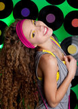 Studio Shot Of Cheerful Teenage Girl Royalty Free Stock Images
