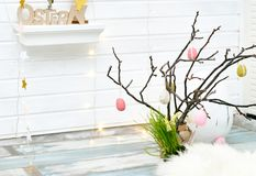 Free Studio Shot Of Easter Decorations Royalty Free Stock Image - 110127536