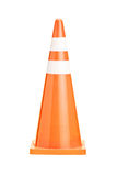 A studio shot of an orange construction cone Royalty Free Stock Photo