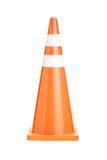 A studio shot of an orange construction cone Royalty Free Stock Photo