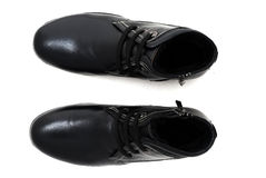 Studio shot of Pair classic mens shoes. isolated Royalty Free Stock Photo