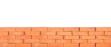 A studio shot of a part of a brick wall Royalty Free Stock Photos