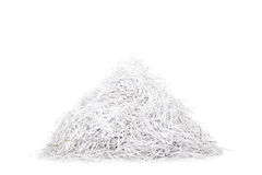 Studio shot of a pile of shredded paper. Isolated on white background Royalty Free Stock Photography
