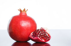 Studio shot of pomegranate. Stock Images