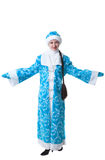 Studio shot of pretty girl dressed as Snow Maiden Stock Image