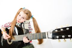 Studio shot of pretty little girl Stock Photos