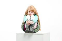Studio shot of pretty little girl Stock Photo