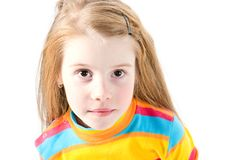 Studio shot of pretty little girl Royalty Free Stock Images