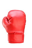 A studio shot of a red boxing glove. Isolated on white background Stock Photography