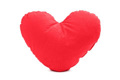 A studio shot of a red heart shaped pillow Royalty Free Stock Photos