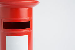 Studio Shot Of Red Post Box Stock Photography