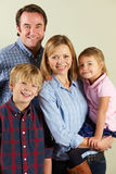 Studio Shot Of Relaxed Family Stock Photos