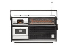 A studio shot of a retro styled radio Stock Image